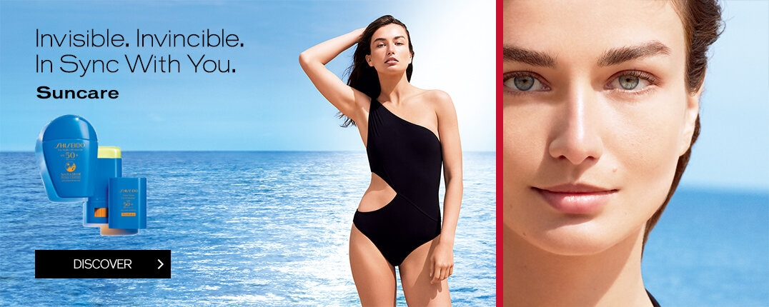 Invisible. Invincible. In Sync With You. Suncare DISCOVER
